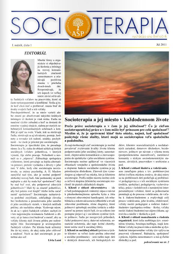 Socioterapia 2011/1