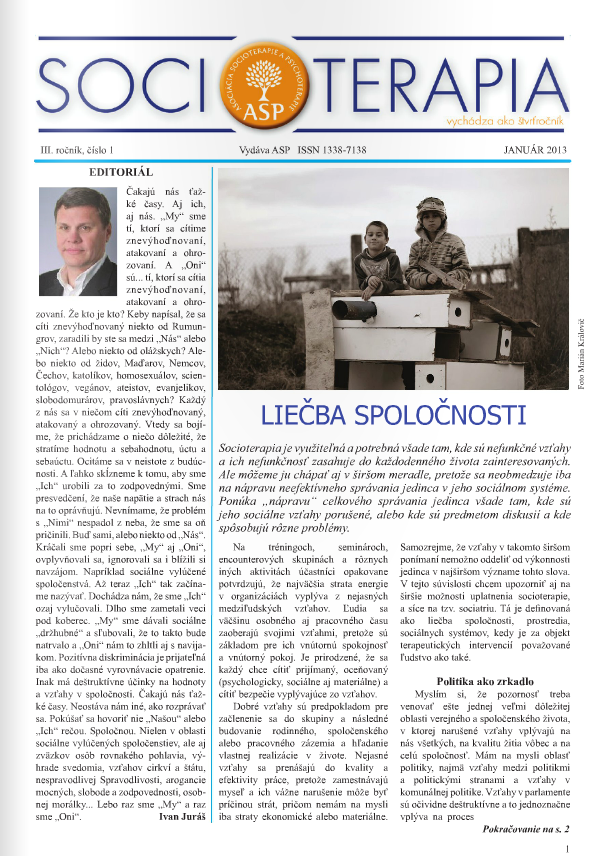 Socioterapia 2013/1