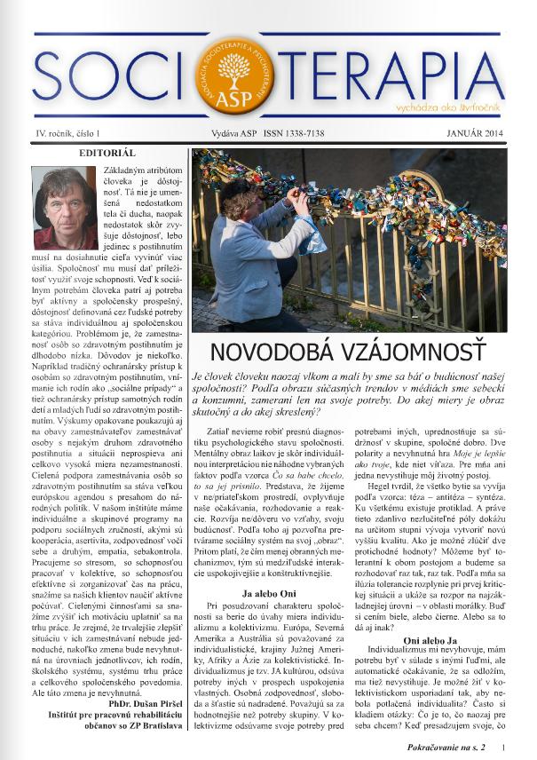 Socioterapia 2014/1