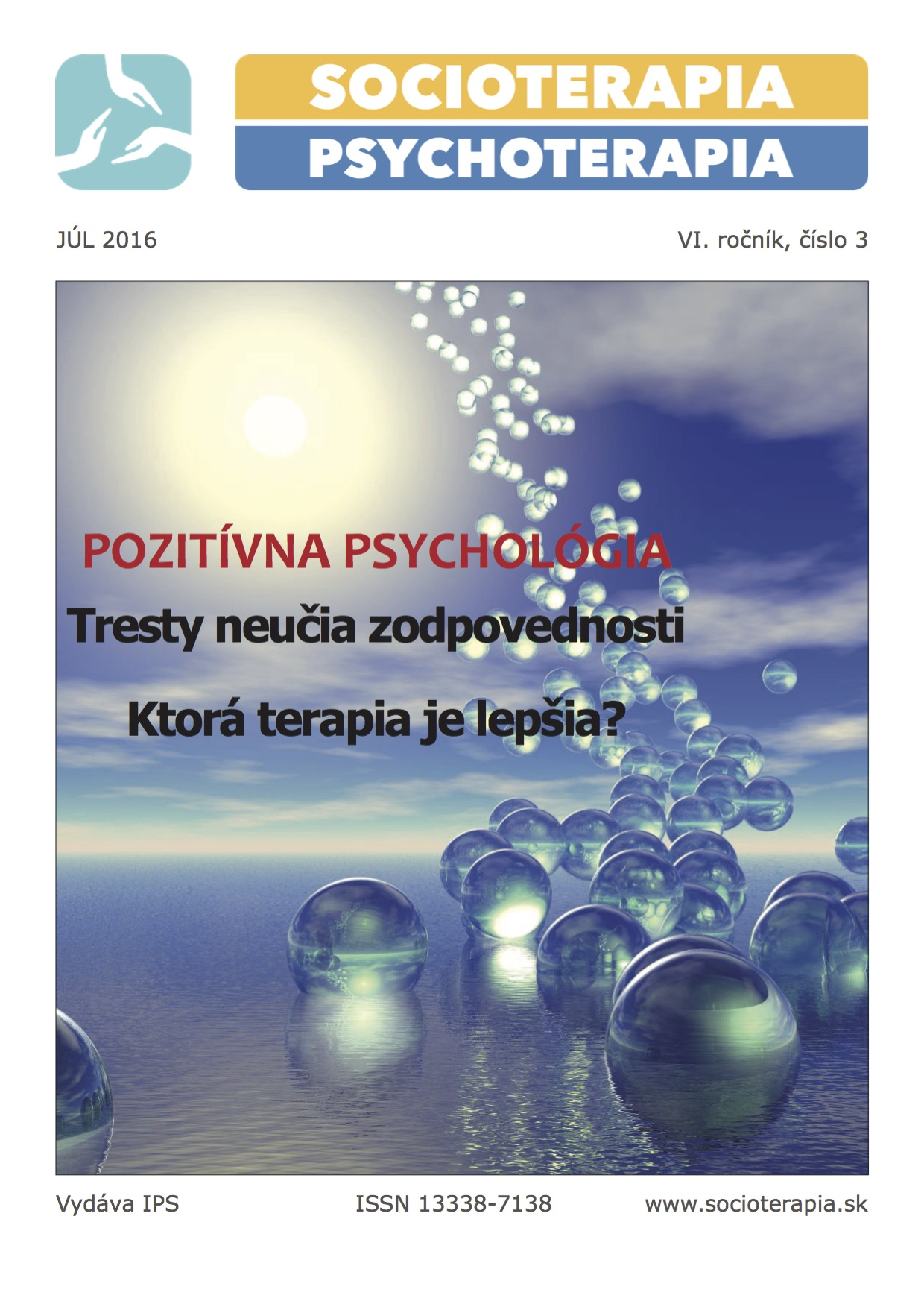 Socioterapia a psychoterapia 2016/3