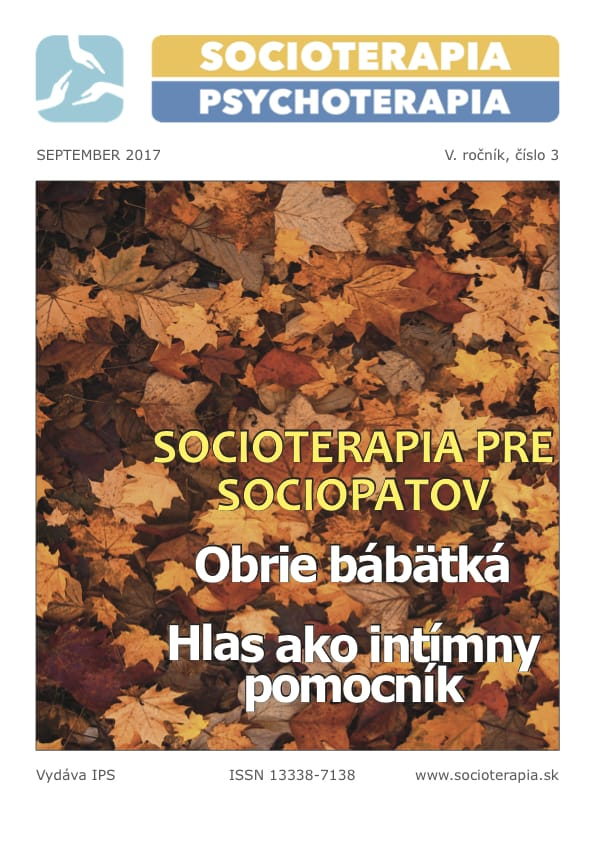 Socioterapia a psychoterapia 2017/3