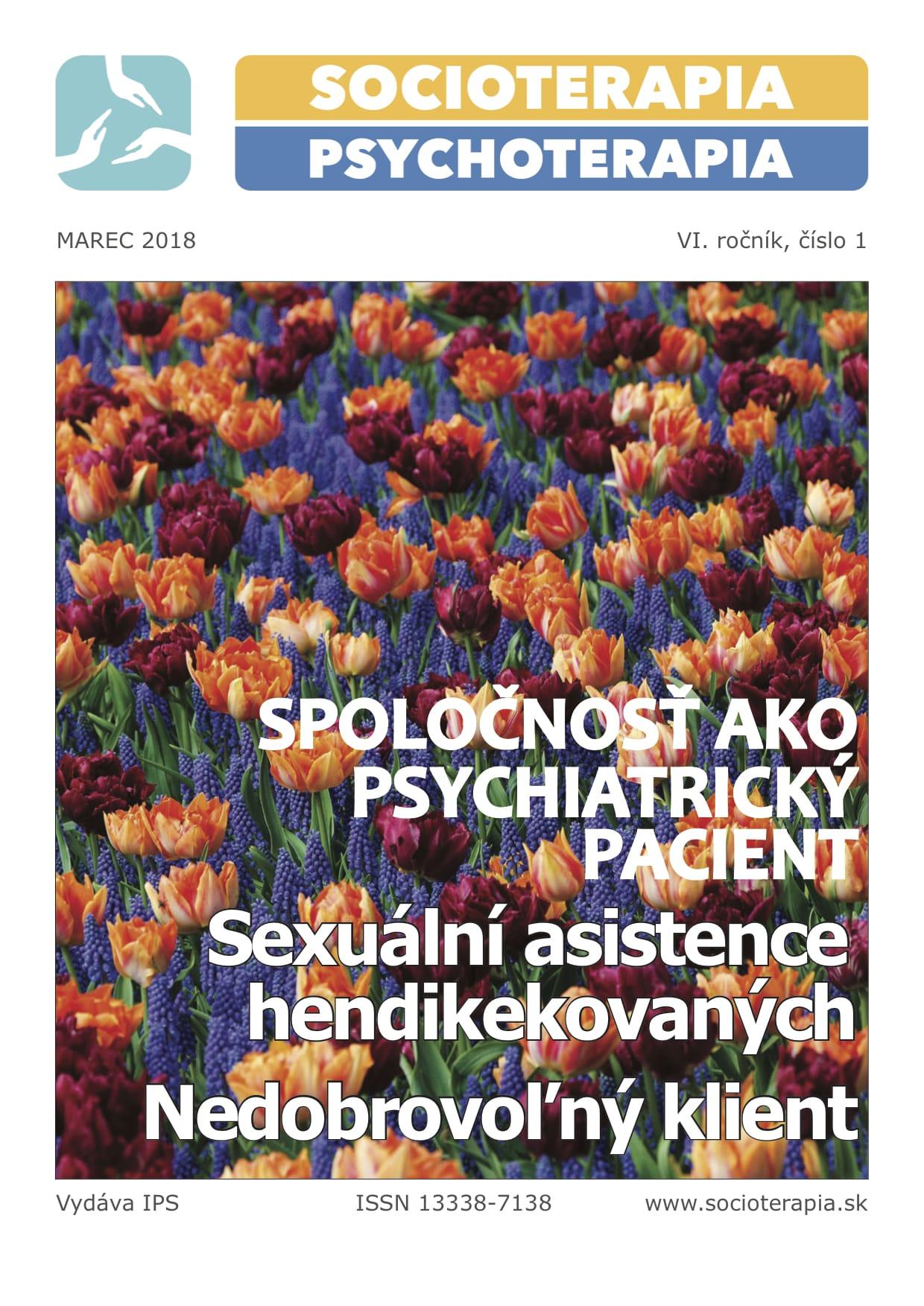 Socioterapia a psychoterapia 2018/1