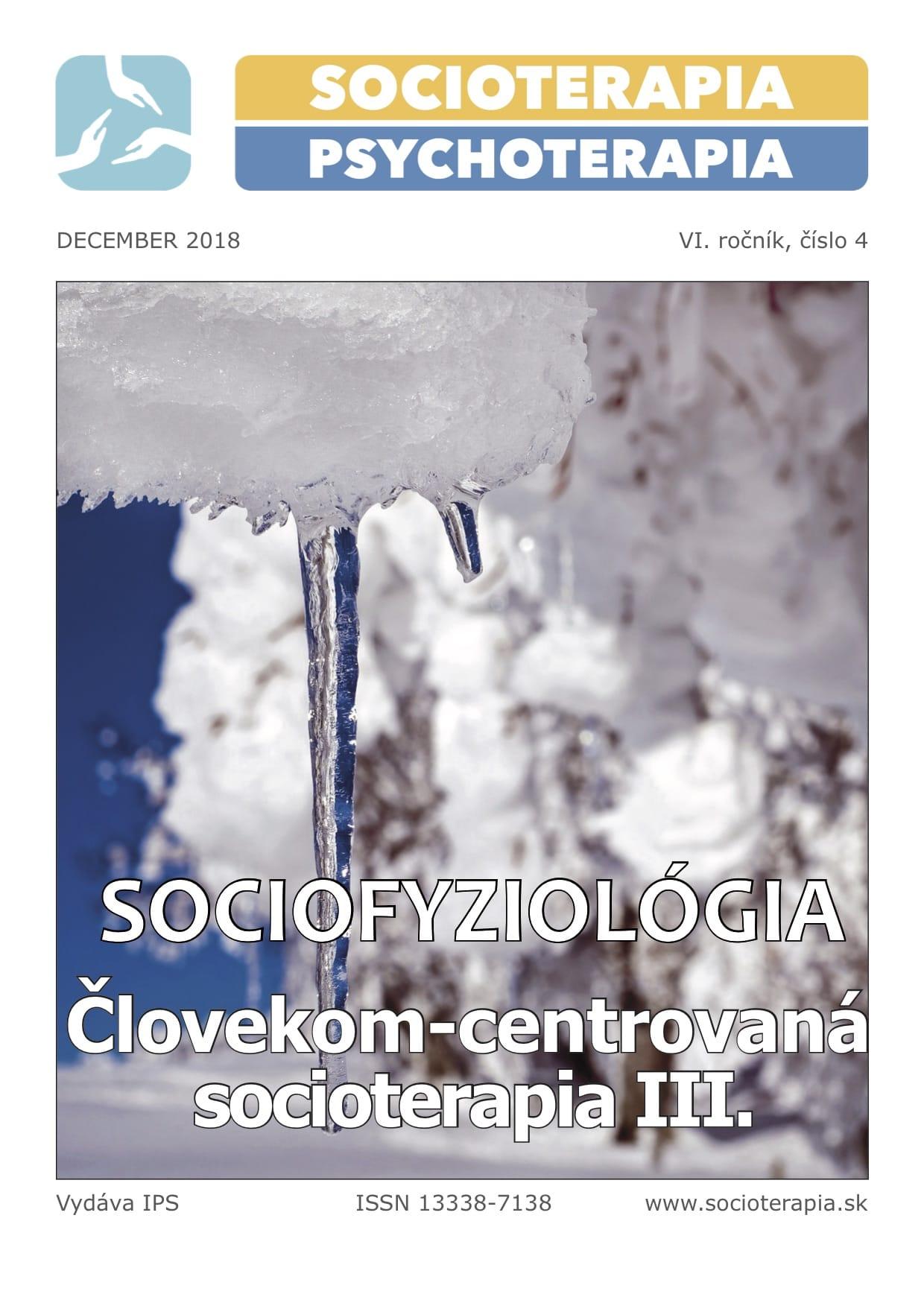 Socioterapia a psychoterapia 2018/4